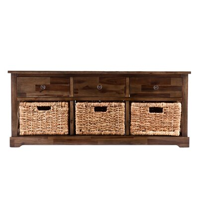 Wildon Home ® Bourke Wood Storage Bench