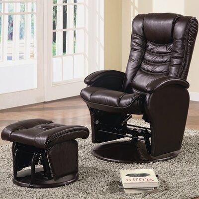 Wildon Home ® Vanceboro Leather Recliner & Ottoman