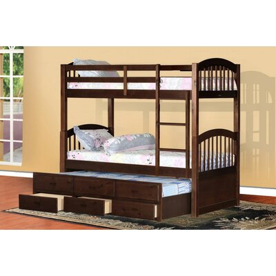 Wildon Home ® Arthur Twin Bunk Bed with Trundle and Storage