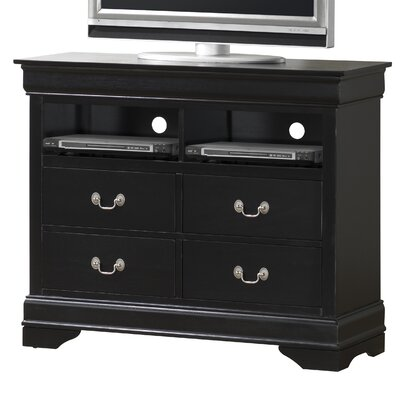 Wildon Home ® Louis Phillip 4 Drawer Media Chest