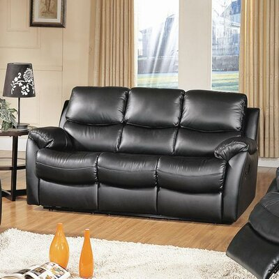 Wildon Home ® Brett Top Grain Leather Recli..