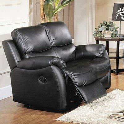 Wildon Home ® Brett Top Grain Leather Reclining Loveseat