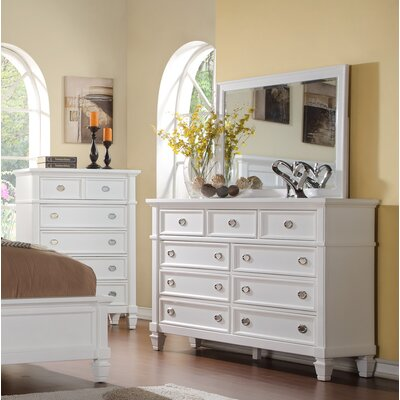 Wildon Home ® Dolce 9 Drawer Dresser with Mirr..