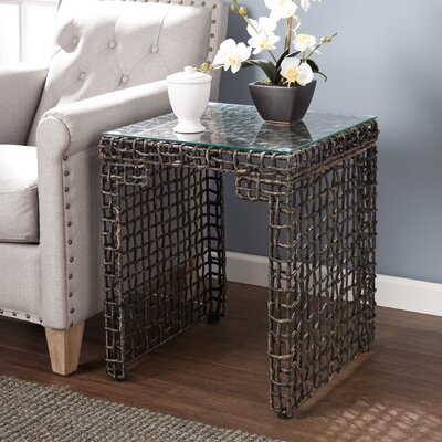 World Menagerie Akersville Woven End Table