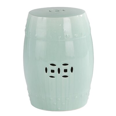 Andover Mills Estella Ceramic Indoor/Outdoor Accent Table in Seafoam Green