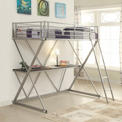 Wildon Home ® Workstation Loft Bunk Bed with Desk