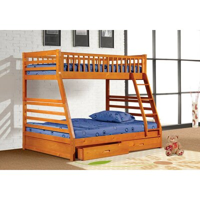 Wildon Home ® Boise Twin over Full Bunk Bed with Drawers