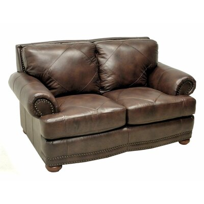 Wildon Home ® Leather Loveseat