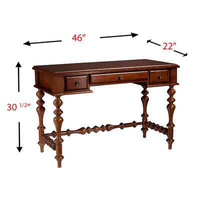 Rosalind Wheeler Hetton Turned-Leg Desk
