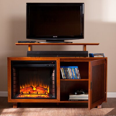 Wildon Home ® Barton TV Stand with Electric Fireplace