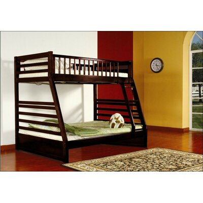 Wildon Home ® Twin over Full Bunk Bed with Storage