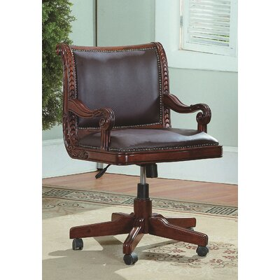 Wildon Home ® Angelina Mid-Back Leather Executive Office Chair