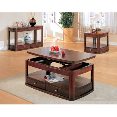 Wildon home r benicia coffee table with lift top reviews for Dark wood lift top coffee table