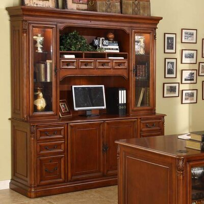 Wildon Home ® Keegan Credenza Desk with Hutch