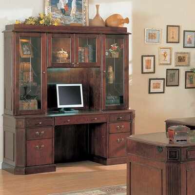 Wildon Home ® Youngtown Executive Desk with Hutch