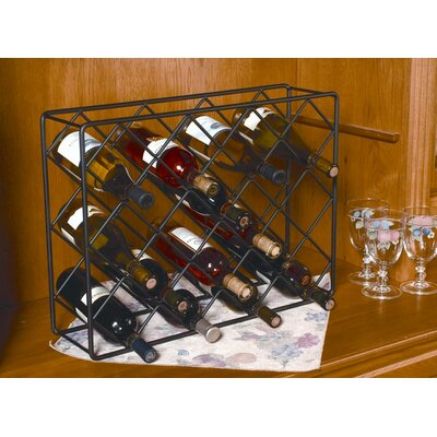 J & J Wire 18 Bottle Tabletop Wine Rack