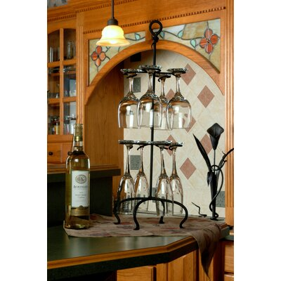 J & J Wire Tabletop Wine Glass Rack