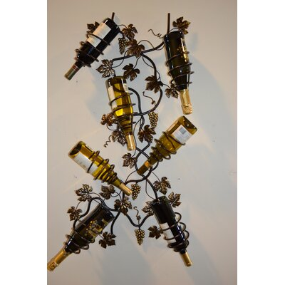 J & J Wire 7 Bottle Wall Mounted Wine Rack