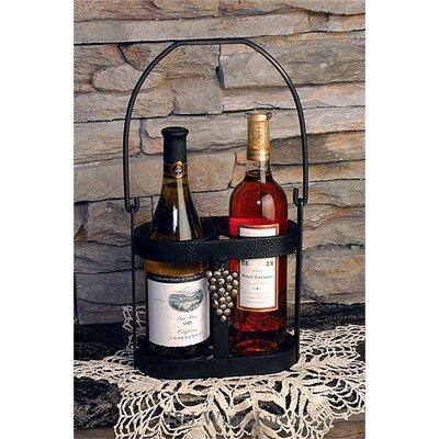 J & J Wire 2 Bottle Tabletop Wine Rack