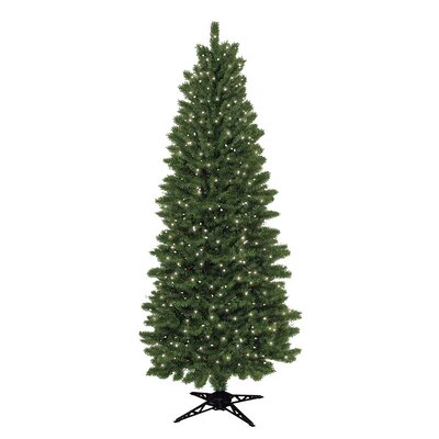 General Foam Plastics 7' Green Spruce Artificial Christmas Tree with 450 Clear Lights