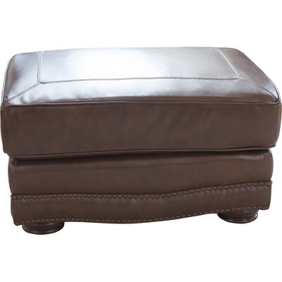 Darby Home Co Eldora Leather Ottoman