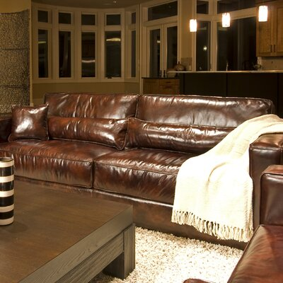 Elements Fine Home Furnishings Laguna Leather Sofa