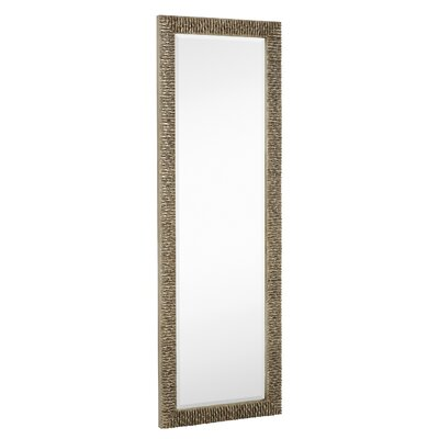 Majestic mirror long rectangular stylish silver with black for Silver long mirror