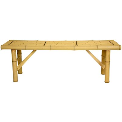 Oriental Furniture Japanese Bamboo Folding Bench