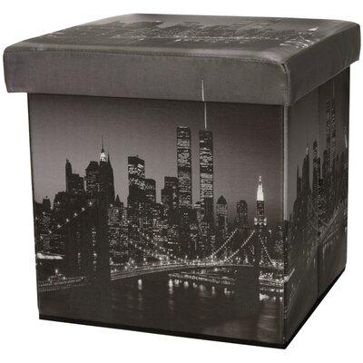 Oriental Furniture Brooklyn Bridge Storage Ottoman