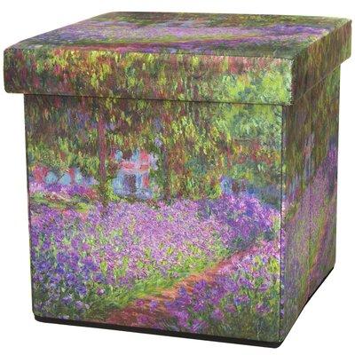 Oriental Furniture Monet Irises Storage O..