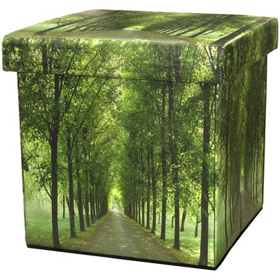 Oriental Furniture Path of Life Storage Ottoman