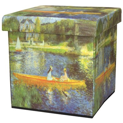 Oriental Furniture The Seine by Renoir Storage Ottoman