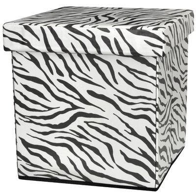 Oriental Furniture Zebra Stripe Storage Ottoman