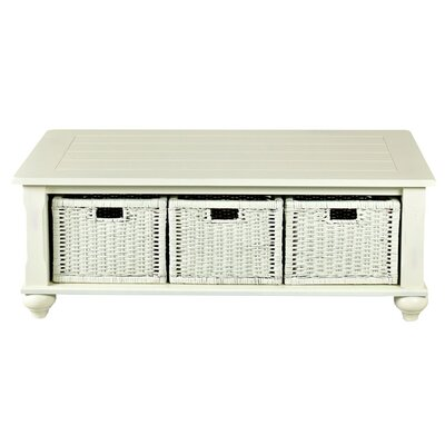 Klaussner Furniture Cutler White Coffee Table