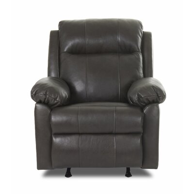 Klaussner Furniture Amari Recliner with Headrest and Lumbar Support