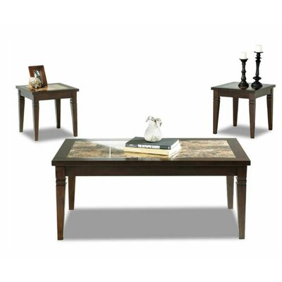 Klaussner Furniture Tatum 3 Piece Coffee Table Set Image