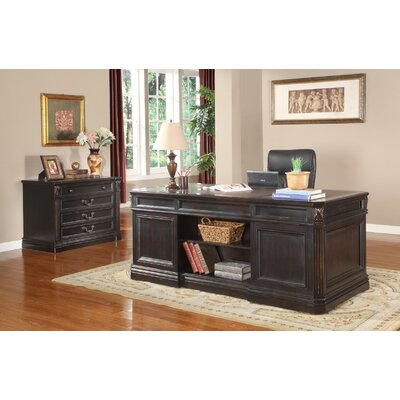 Parker House Furniture Grand Manor Palazzo Executive Desk and File Wall