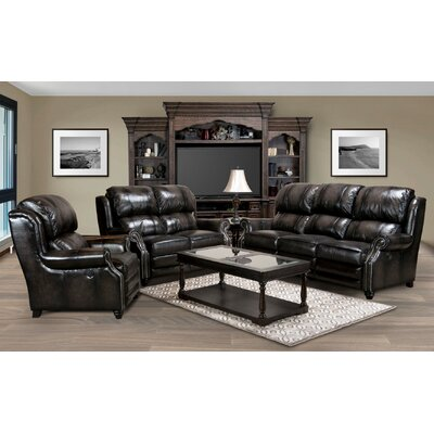 Darby Home Co Charndon Leather Living Room Colle..