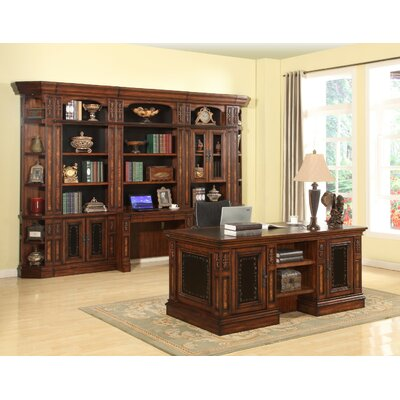 Astoria Grand Victoria Executive Desk and Bookcase Wall