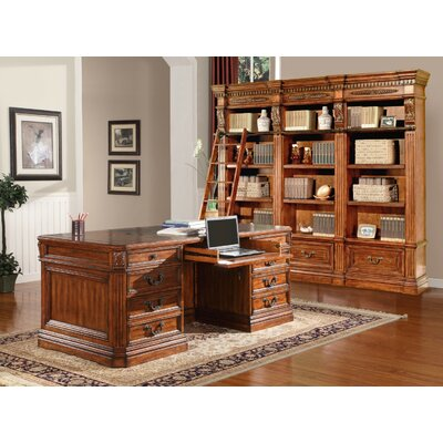 Parker House Furniture Grand Manor Granada Executive Desk and Bookcase