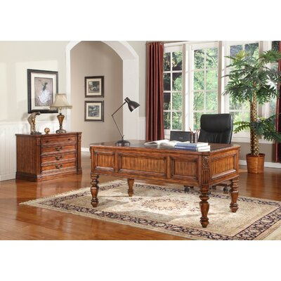Parker House Furniture Grand Manor Granada 2 Piece Writing Desk and File Wall