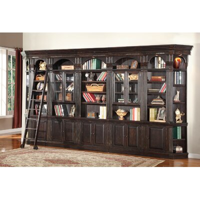 Parker House Furniture Venezia Library Wall with Glass Cabinets