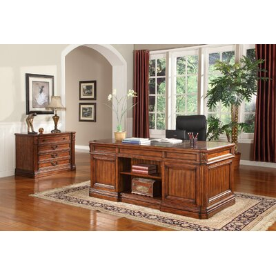 Parker House Furniture Grand Manor Granada Executive Desk and File Wall