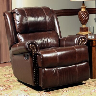 Red Barrel Studio Creve Leather Glider Recliner