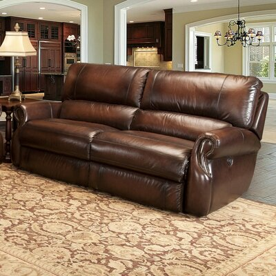 Darby Home Co Hardcastle Dual Leather Power Reclining Sofa