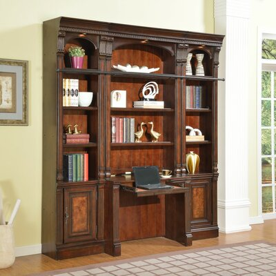 Astoria Grand Ramsey Library Desk and Bookcase Wall
