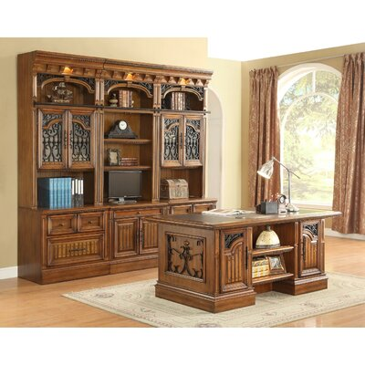 Parker House Furniture Barcelona 6-Piece Library and Desk