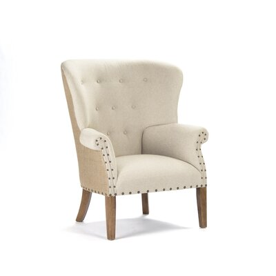 Zentique Inc. Tufted Wing Arm Chair