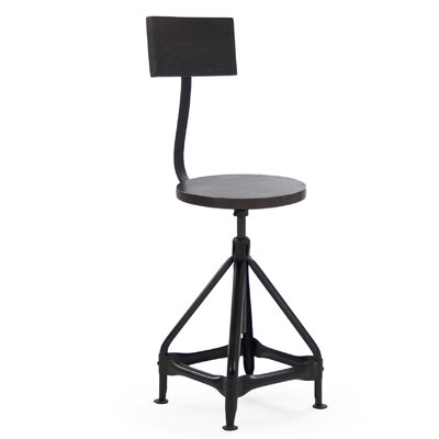 Zentique Inc. Evolution Adjustable Height Swivel Bar Stool