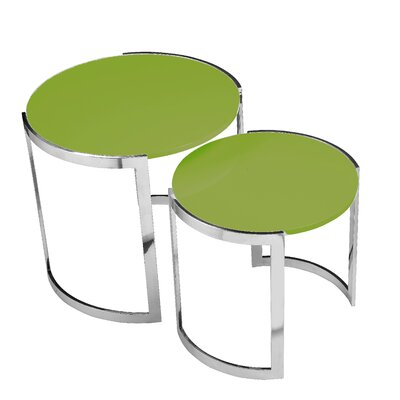 Pangea Home Omni 2 Piece Nesting Table Set